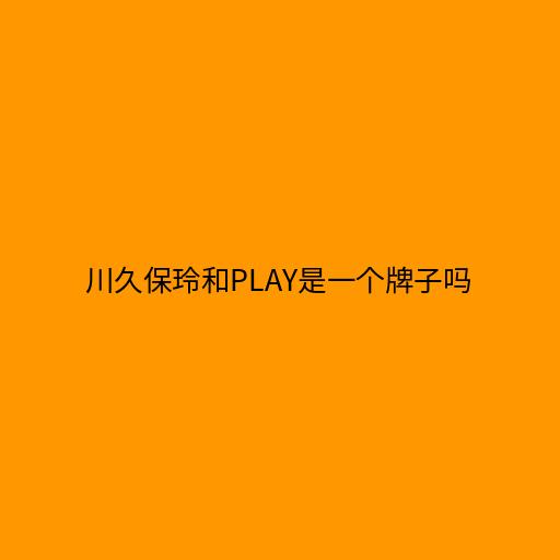 川久保玲和play是一个牌子吗,后者是前者旗下的系列